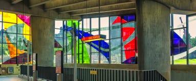 Finestre di vetro macchiato di Marcelle Ferron (1968) Fotografia Stock