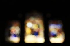 Finestre di vetro macchiato, vaghe Immagini Stock Libere da Diritti