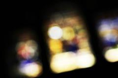 Finestre di vetro macchiato, vaghe Fotografie Stock