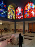 Finestre di vetro macchiato variopinte del ` s di Chagall immagini stock libere da diritti