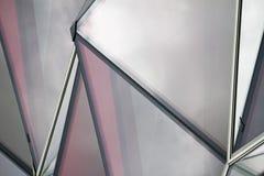 Finestre di vetro rosse fotografia stock