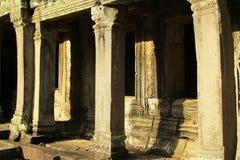 Finestre e colonne antiche Fotografia Stock
