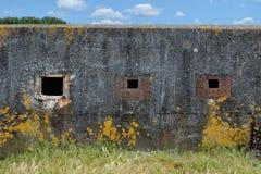 Finestre esteriori del bunker Fotografia Stock Libera da Diritti