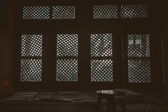 finestre, finestra, luci, ombra, resto, sedia, casa, interno, arte, letto, vivente Fotografia Stock