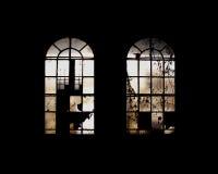 Finestre industriali Fotografie Stock Libere da Diritti