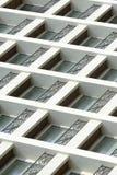 Finestre moderne della costruzione Immagine Stock