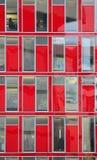 Finestre rosse Immagini Stock Libere da Diritti