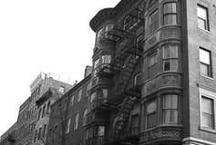 Finestre rotonde in bianco e nero Fotografie Stock Libere da Diritti