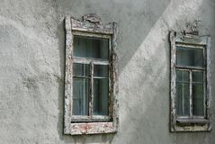 Finestre rurali d'annata Fotografia Stock Libera da Diritti