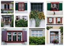 Finestre svizzere Immagini Stock