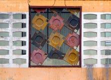 Finestre variopinte Fotografia Stock Libera da Diritti
