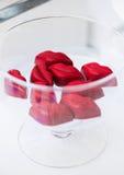 Finezja i produkty dla szklanej tacy zdjęcia stock