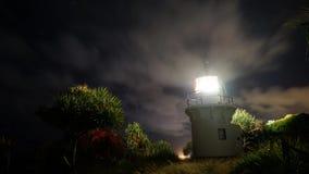Fingal Head Lighthouse Timelapse stock video