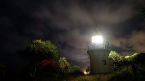 Fingal head lighthouse timelapse stock footage