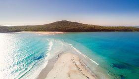 Fingal Spit at Port Stephens Australia Stock Image