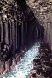 Fingals grotta, Skottland Arkivfoto