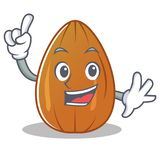 Finger almond nut character cartoon Stock Photo