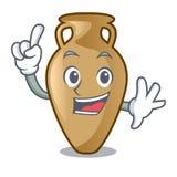 Finger amphora mascot cartoon style. Vector illustration stock illustration