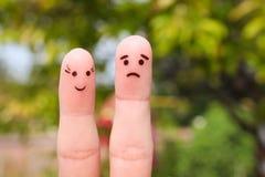 Finger art of couple. Stock Images