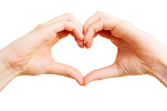 Finger as a heart Royalty Free Stock Images