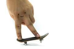 Finger board man Royalty Free Stock Image