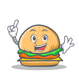 Finger burger character fast food. Vector illustration Royalty Free Stock Photos