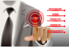 Finger on the business button Royalty Free Stock Photography