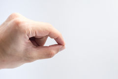 Finger catching posture isolate on white background for design. Stock Images