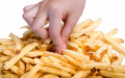 Finger Chips isolated Royalty Free Stock Photography