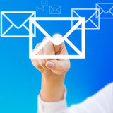 Finger choosing mail Royalty Free Stock Photography