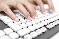 Finger on the computer keyboard Stock Photography