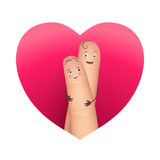 Finger copule in love hugging Stock Photography