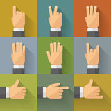 Finger count icons 001 Royalty Free Stock Photos