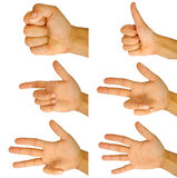 Finger counting Royalty Free Stock Photography