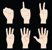 Finger counting Stock Images
