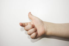 Finger counts one. Child. all is well. Over Stock Photography