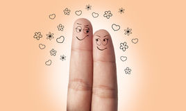 A finger couple in love Royalty Free Stock Photos