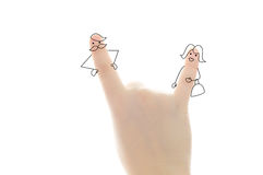 Finger couple Royalty Free Stock Photography