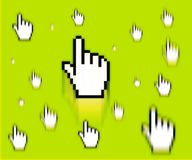 Finger cursor. Operating system cursor. finger cursor Stock Photo