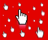 Finger cursor Royalty Free Stock Photography