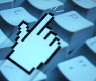 Finger Cursor royalty free stock images