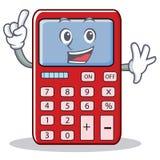 Finger cute calculator character cartoon. Vector illustration Stock Photography