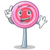 Finger cute lollipop character cartoon. Vector illustration Stock Images