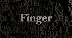 Finger - 3D rendered metallic typeset headline illustration Royalty Free Stock Images