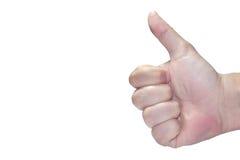 Finger del pulgar para arriba Fotografía de archivo libre de regalías