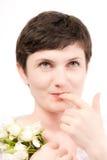 Finger an den Lippen Lizenzfreie Stockfotos