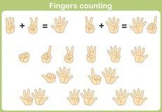 Finger, der für das Hinzufügen und das Subtrahieren zählt Lizenzfreie Stockfotografie