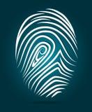 Finger design, vector illustration. Finger design over blue background, vector illustration Royalty Free Stock Photography