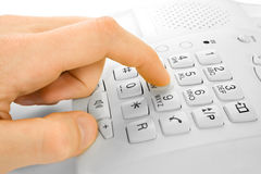 Finger dialing Stock Image
