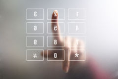 Finger on digital keyboard Royalty Free Stock Images